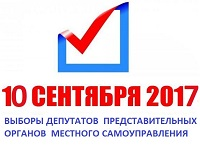 Выборы депутатов представительных органов местного самоуправления 10 сентября 2017